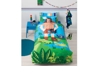 Reversible Croc Hunter Quilt Cover Set by Cubby House Kids