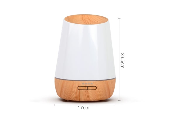 4 in 1 Ultrasonic Aroma Diffuser Round 500ml (Light Wood)