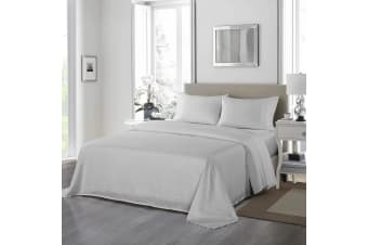 Royal Comfort 1200 Thread Count Sheet Set 4 Piece Ultra Soft Satin Weave Finish - Double - Silver