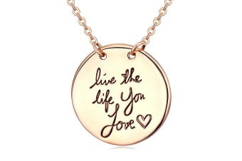 Live The Life You Love Necklace-Gold