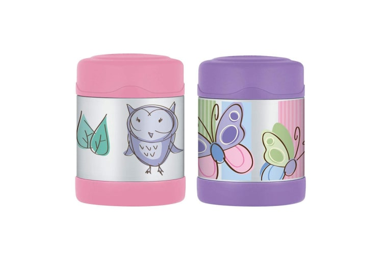 2pc Thermos Funtainer 290ml Stainless Steel Hot Cold Food Jar Butterfly Owl