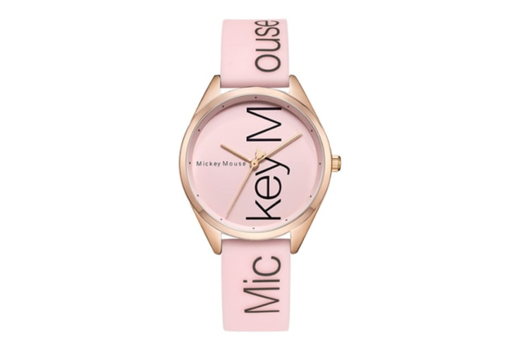 Select Mall Fashion Simple Waterproof Child Quartz Watch Fashion Trend Casual Watch Suitable for Boys and Girls-Pink