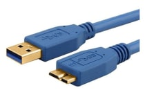 Astrotek USB 3.0 Cable 3m - Type A Male to Micro B Blue Colour
