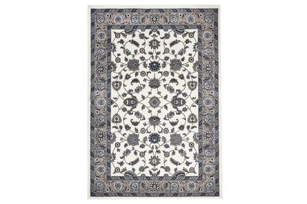 Classic Rug White with Beige Border 170x120cm