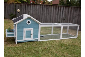 Flyline Garden Window Chicken Coop Rabbit Cage with Run