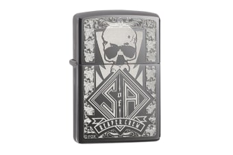Zippo SOA Reaper Crew Genuine Black Ice Chrome Finish Pocket Lighter Windproof