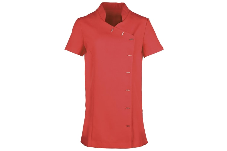 Premier Womens/Ladies *Orchid* Tunic / Health Beauty & Spa / Workwear (Pack of 2) (Strawberry Red) (20)