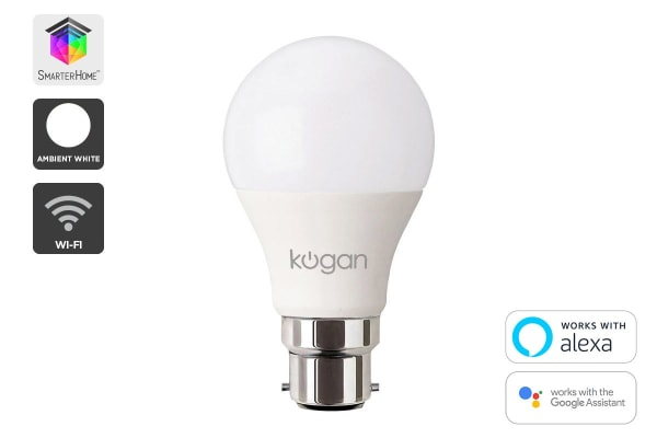 Kogan SmarterHome™ 10W White Smart Bulb (B22)