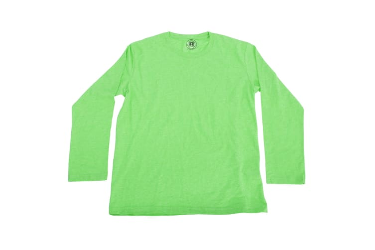 Russell Older Boys Long Sleeve HD T-Shirt (Green Marl) (13-14 Years)