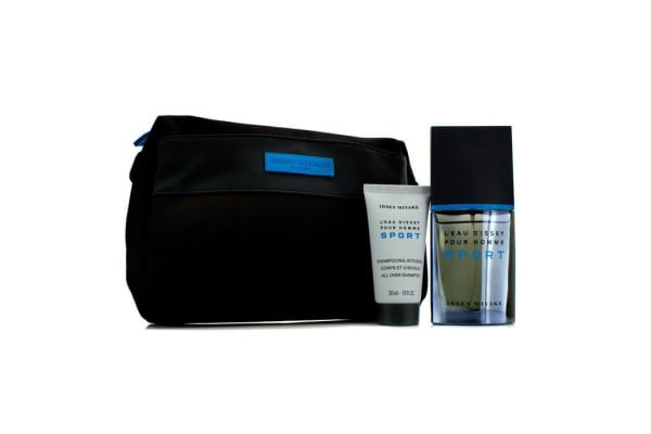 Issey Miyake L'Eau d'Issey Pour Homme Sport Coffret: Edt Spray 50ml/1.6oz + All Over Shampoo 50ml/1.6oz + Bag (2pcs+Bag)