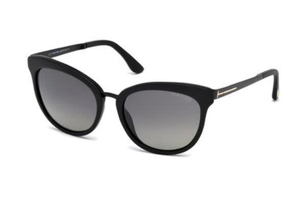 Tom Ford FT0461 - Matte Black (Smoke Shaded Polarised lens) Womens Sunglasses