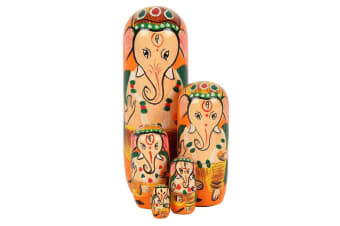 Something Different Ganesh Russian Dolls (Set Of 5) (Multicoloured) (One Size)