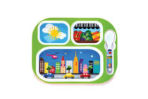 French Bull Kids Everyday Tray Set with Spoon City