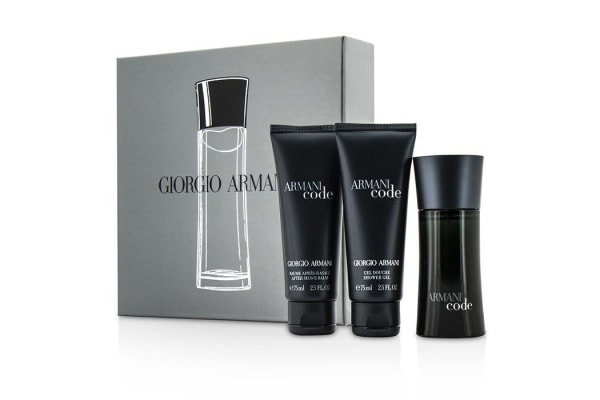 Giorgio Armani Armani Code Coffret: Eau De Toilette Spray 50ml/1.7oz + After Shave Balm 75ml/2.5oz + Shower Gel 75ml/2.5oz (3pcs)