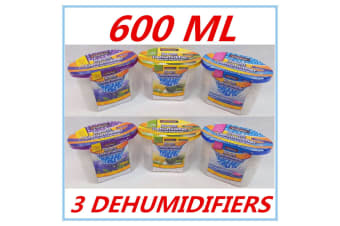 3 X ROOM DEHUMIDIFIER AIR FRESHENER CARAVANS WARDROBES BOATS GARAGE CUPBOARD DD