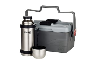 Thermos 6.6L Insulated Lunch Lugger Container Box w  1L Stainless Steel Flask