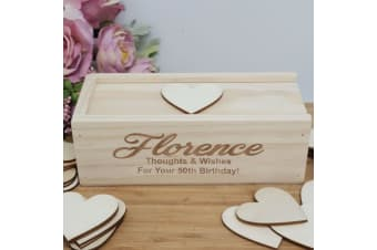 50th Wooden Guest Book Message Box
