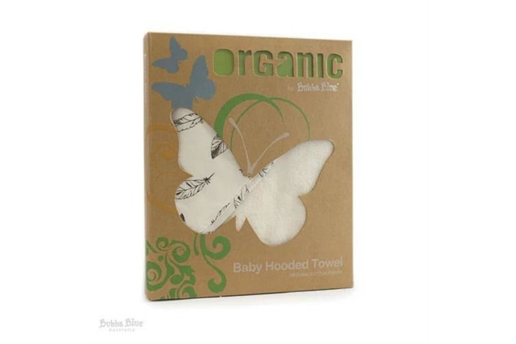 Bubba Blue Organic Cotton Feathers Hooded Towel