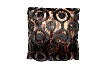 Fashion Burn-Out Cushion Austin Black by Hotel Living