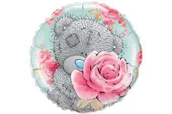 Qualatex Me To You 18 Inch Round Foil Tatty Teddy Roses Balloon (Blue/Grey/Pink)