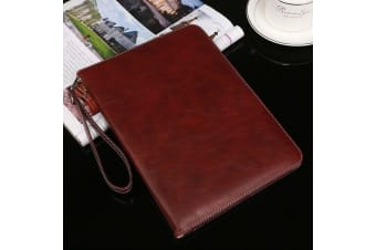Genuine Luxury Leather Case Cover for Apple New iPad 9.7 2017 5th Gen-RoseRed