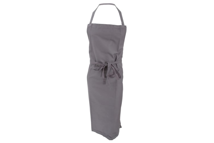 Jassz Bistro Bib Apron / Hospitality & Catering (Pack of 2) (Grey) (One Size)