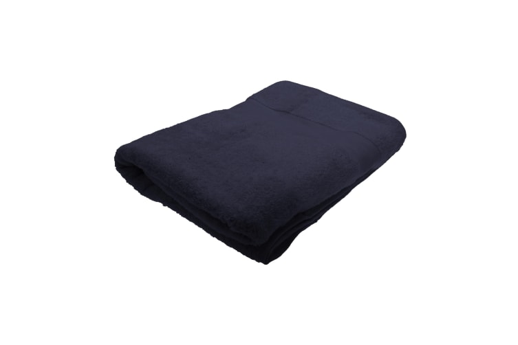 Jassz Premium Heavyweight Plain Big Towel / Bath Sheet (Pack of 2) (Navy Blue) (One Size)