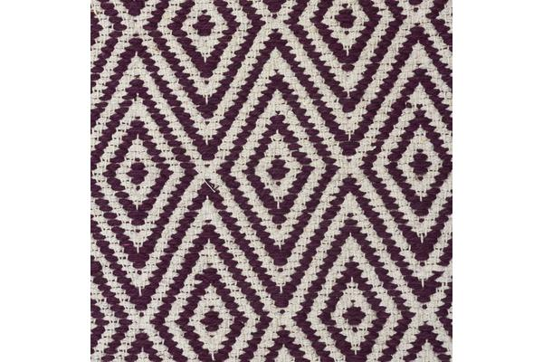 Modern Flatweave Diamond Design Purple Rug 320x230cm
