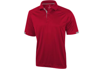 Elevate Mens Kiso Short Sleeve Polo (Red) (M)