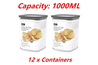 12 x 1000ML Pantry Storage Set Food Containers Bin Canister Kitchen Organizer Jars