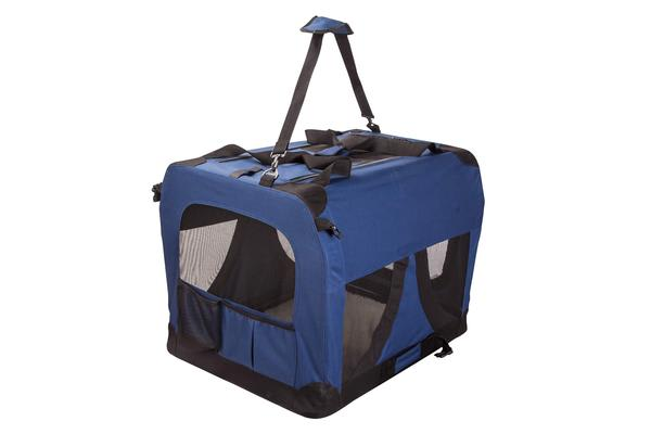 Portable Soft Dog Crate L - BLUE
