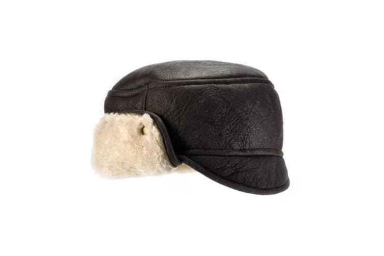 Eastern Counties Leather Mens Caxton Sheepskin Aviator Trapper Hat (Vizon) (L)