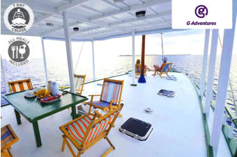 MALDIVES: 7 Day Small Group Dhoni Cruise Package for One or Two