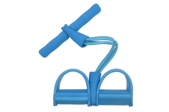 Select Mall Ankle Puller Abdomen Fitness Home Sports Thin Waist Legs Equipment 4 Tube Pedal Pull Rope-Blue