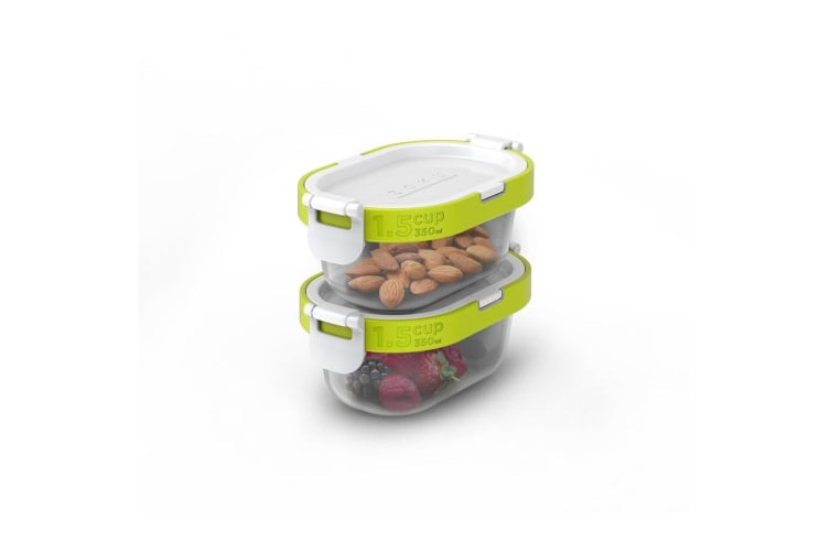 Zoku Neat Stack Snack Container 4 Piece Set