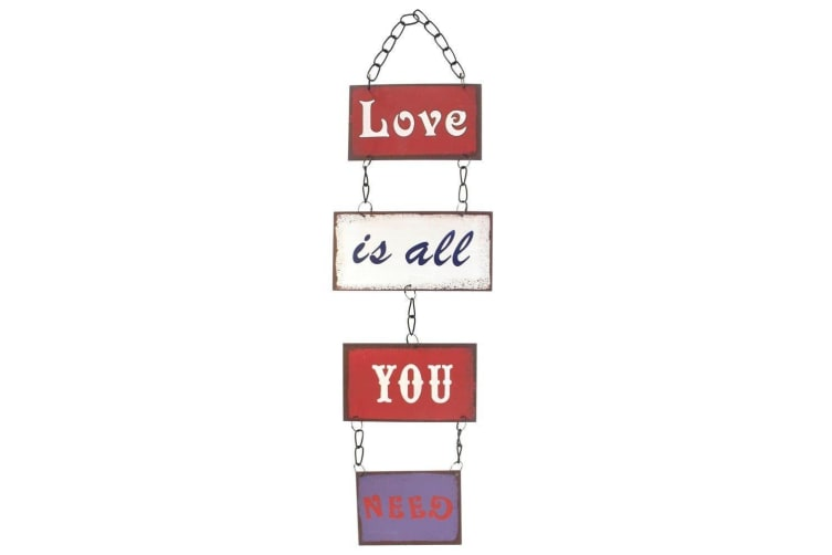Love Is All You Need Plaque (Multi-colour) (12 x 0.1 x 44 cm)