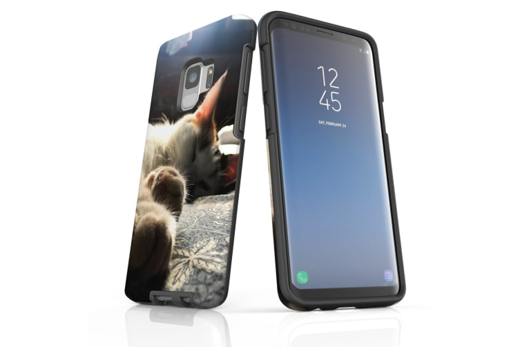 For Samsung Galaxy S9 Case Armour Cover  Cozy Cat