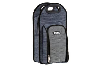Thermos 2 Bottle Wine Cooler Bag with Glasses (Blue/Grey)