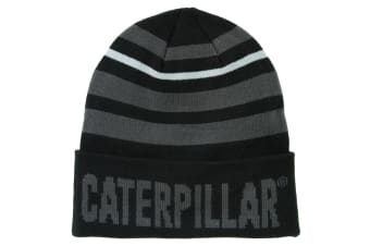 Caterpillar Mens Tumbler Knit Beanie Hat (Black)