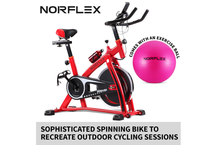 Norflex Spin Bike Exercise Ball Flywheel Fitness Commercial Home Workout Gym R