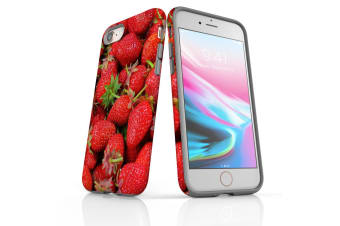 For iPhone 8 Shielding Back Case  Strawberries