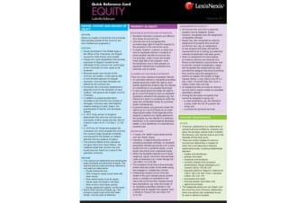 Quick Reference Card - Equity, September 2015
