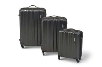 Orbis 3 Piece Premium UltraLite Spinner Luggage Set (Graphite)