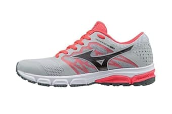 Mizuno Women's SYNCHRO MD 2 Running Shoe (Grey/Red, Size 6.5 US)