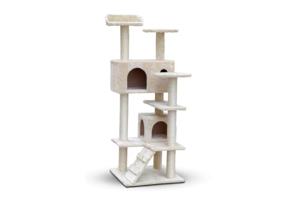 Cat Scratching Post Tree House Condo 134cm (Beige)
