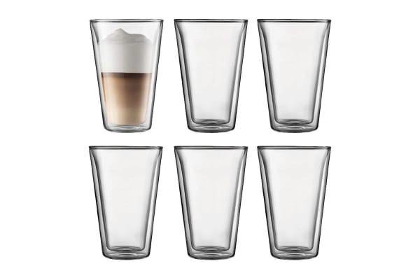 Bodum Canteen 6 Piece Glass Double Wall - Large, 0.4 L, 13.5 oz (10110-10-12)