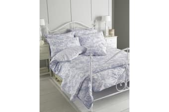Riva Home Canterbury Tales Duvet Cover Set (200 Thread Count) (Blue) (Piped (Singles))