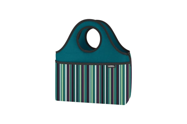 Thermos Raya Premium 9 Can Cooler Tote (Green Stripe)