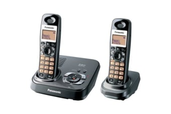 Panasonic 5.8Ghz Twin Handset Cordless Phone Answer Machine Kx-Tg4392 - Refurbished