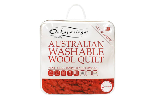 Onkaparinga Australian Wool All Seasons Washable Quilt (Double)